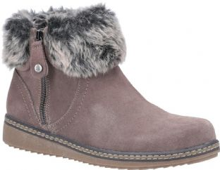 Hush Puppies Penny Grey Suede Womens Boots